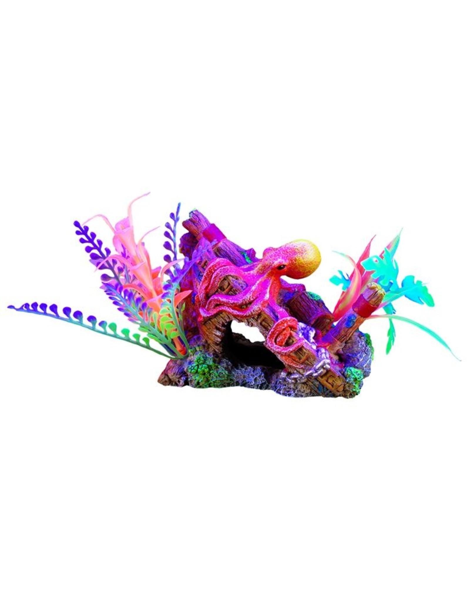 """Marina Marina iGlo Ship's Bow with Octopus and Plants - 4"""""""