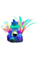 """Marina Marina iGlo Mushroom House with Plants - 4"""""""