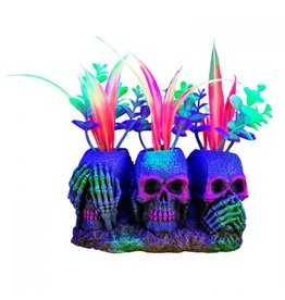 Marina Marina iGlo 3 Skulls with Plants - 3""
