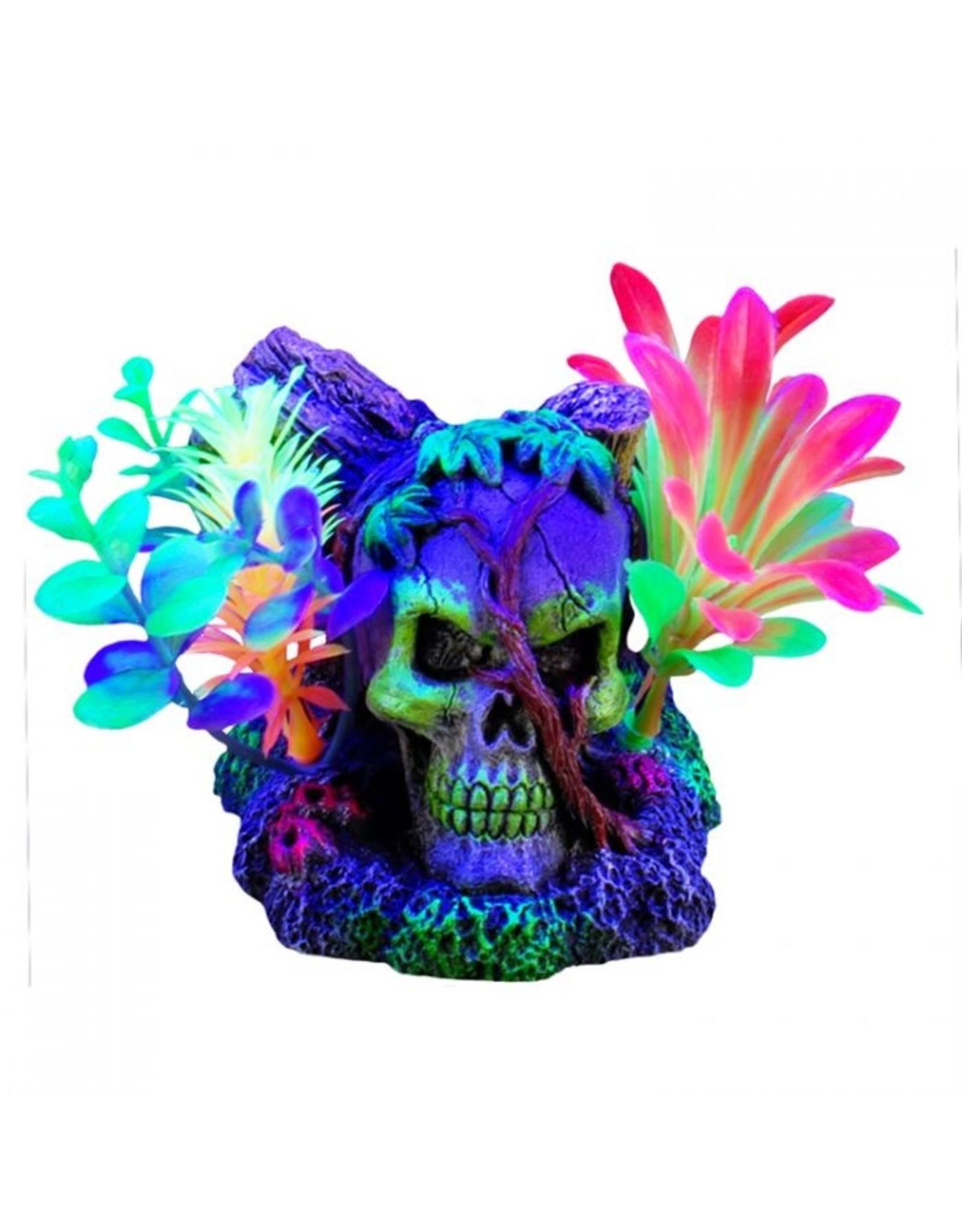 """Marina Marina iGlo Skull with Vines & Plants - 3"""""""