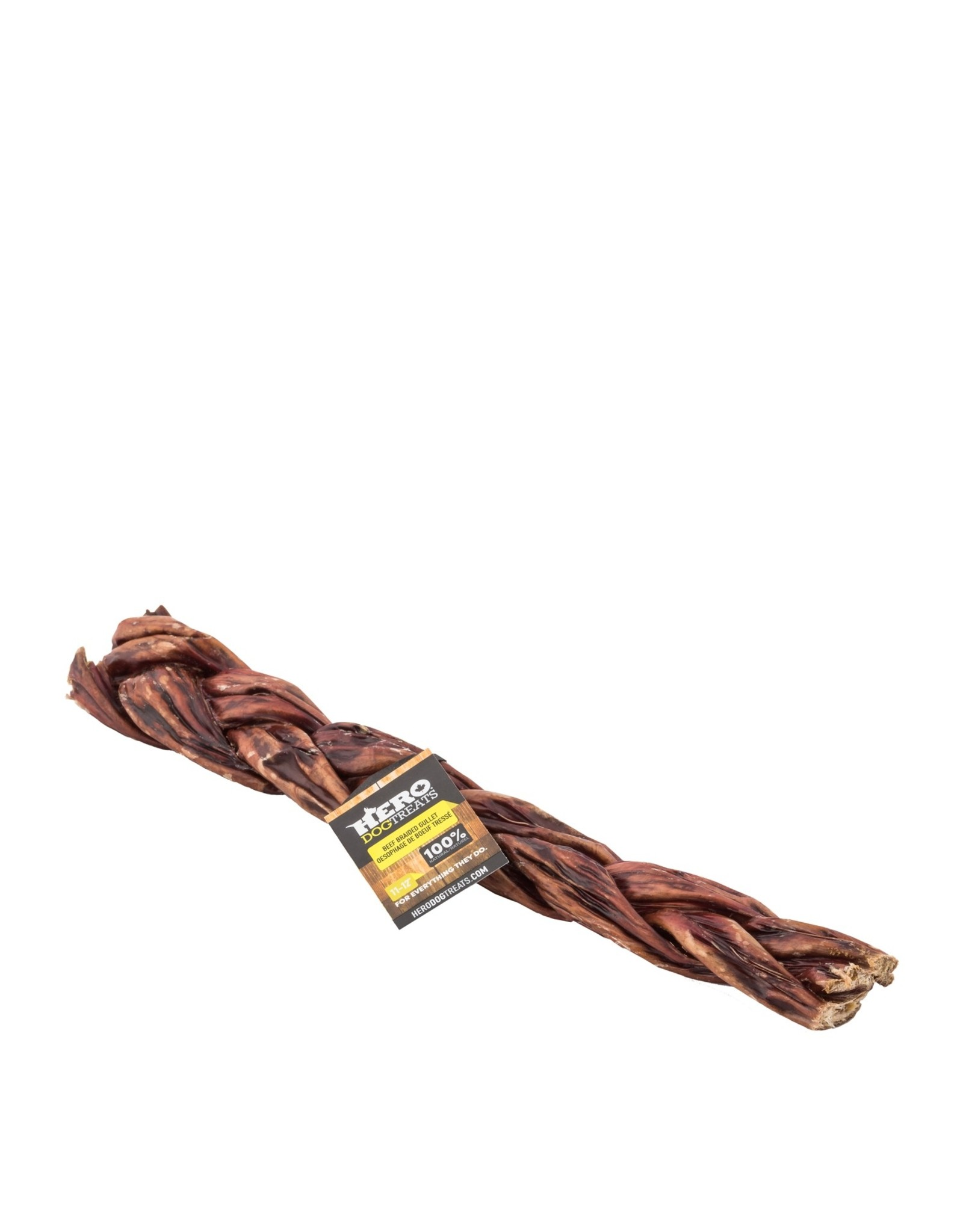Hero Dehydrated Braided Beef Gullet 5-6""