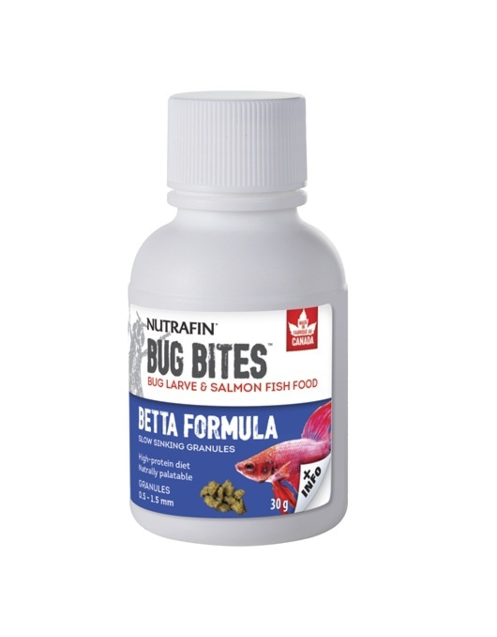 Nutrafin Bug Bites Betta Formula 0.5-1.5mm granules 30g (1.0oz)