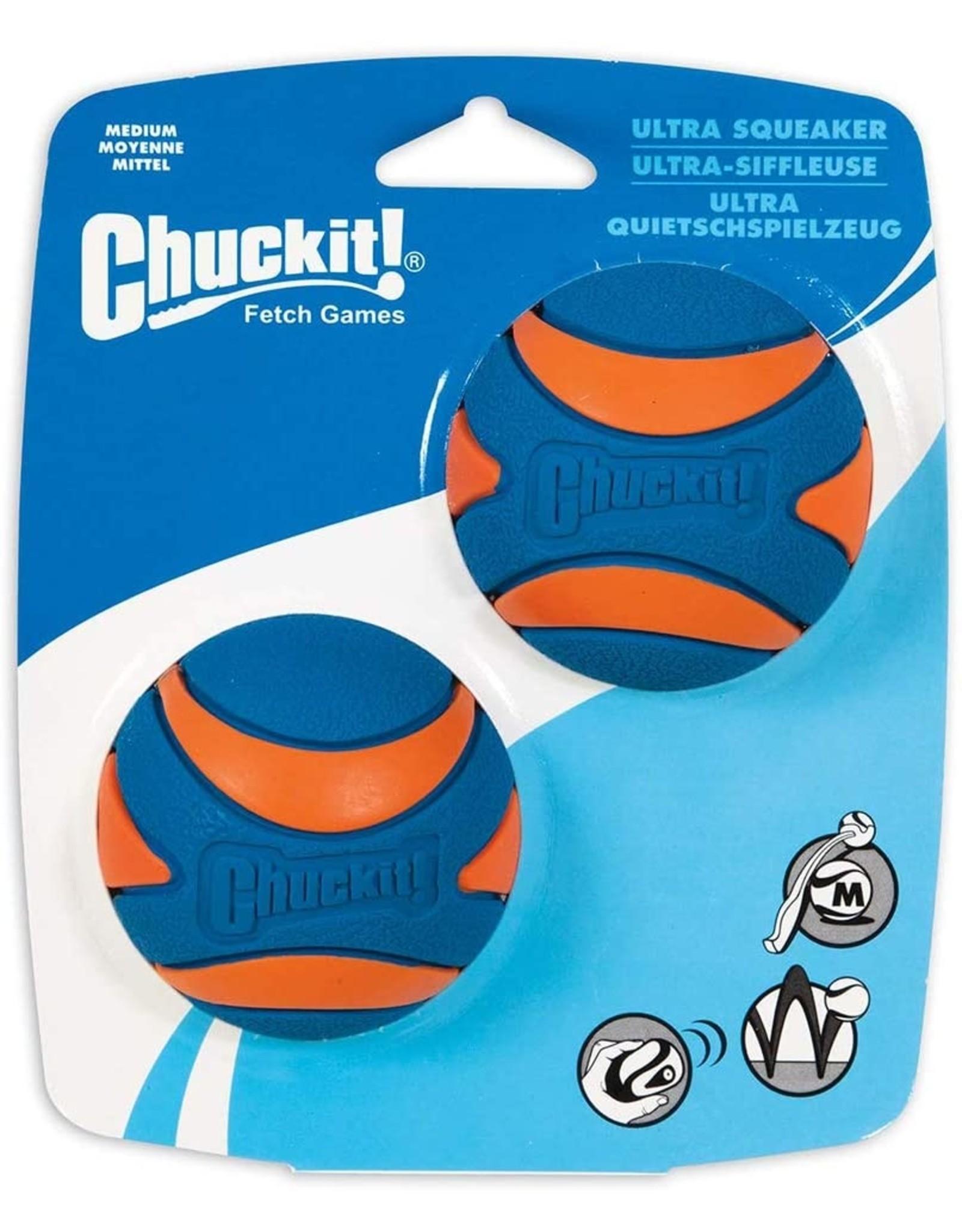 Chuckit! Ultra Squeaker Ball 2-Pack Medium