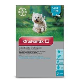 Bayer K9 Advantix II - 4.6kg - 11kg, 6 doses