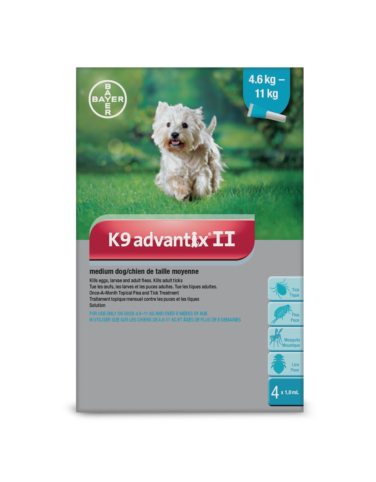 Bayer K9 Advantix II - 4.6kg - 11kg, 4 doses