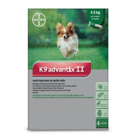 Bayer K9 Advantix II - 4.5kg and under, 4 doses