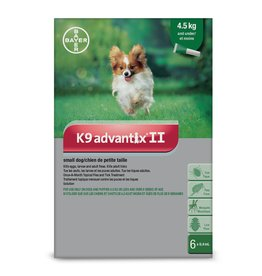 Bayer K9 Advantix II - 4.5kg and under, 6 doses