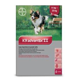 Bayer K9 Advantix II - 11kg - 25kg, 4 doses