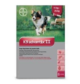 Bayer K9 Advantix II - 11kg - 25kg, 6 doses