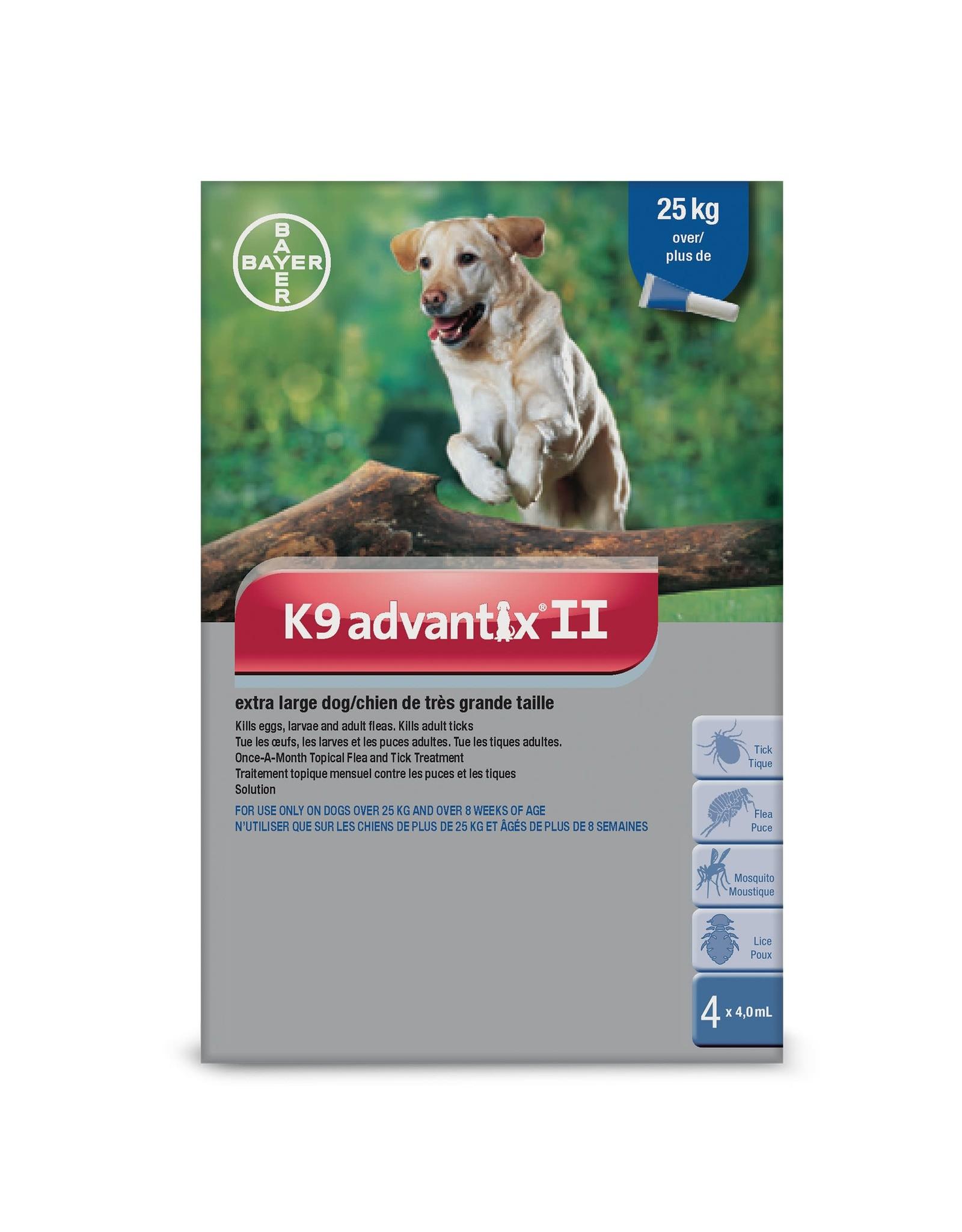 Bayer K9 Advantix II - over 25kg, 4 doses