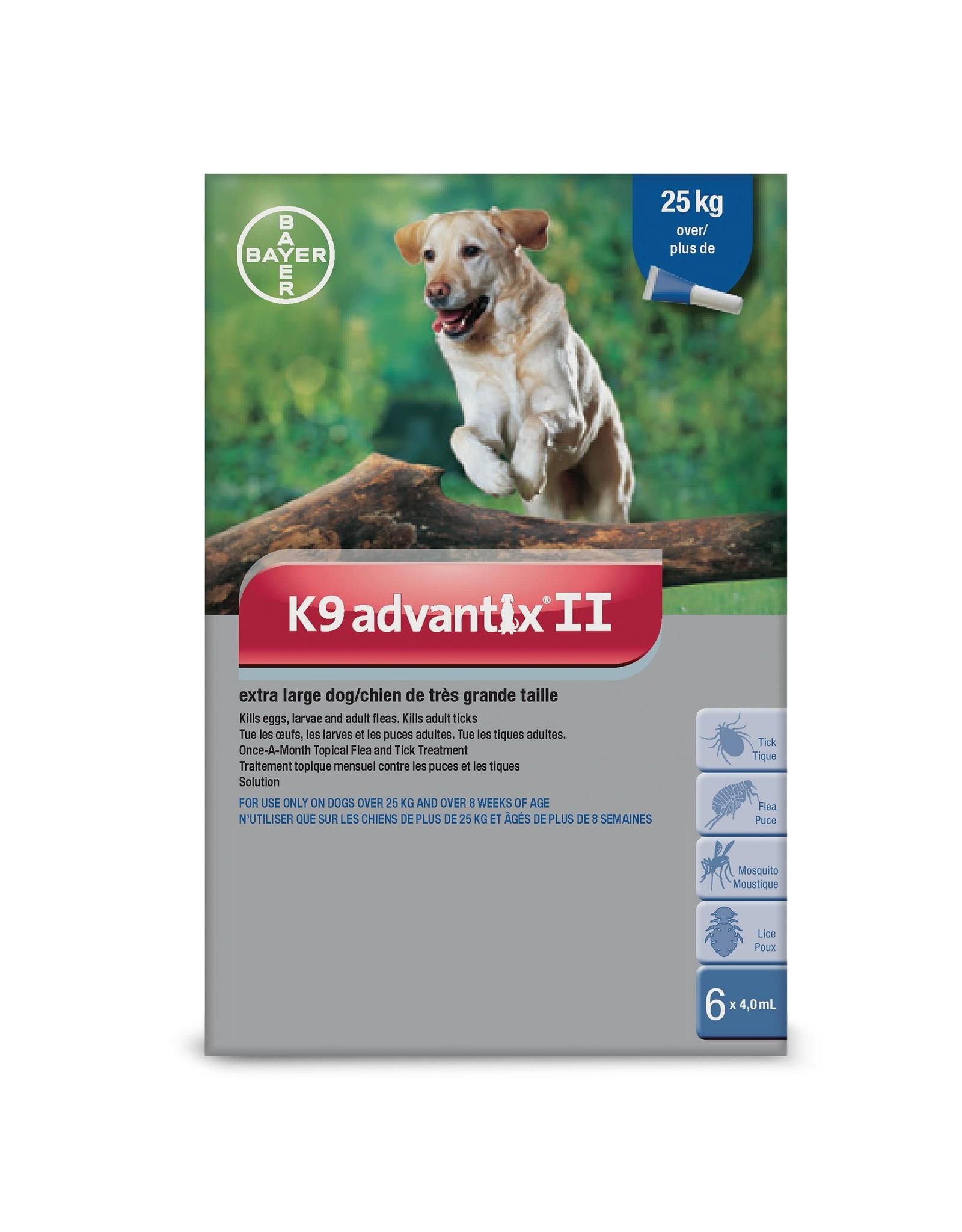 Bayer K9 Advantix II - over 25kg, 6 doses