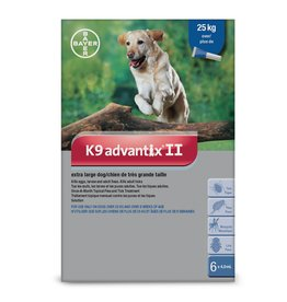 Bayer K9 Advantix II - over 25kg, 6 doses