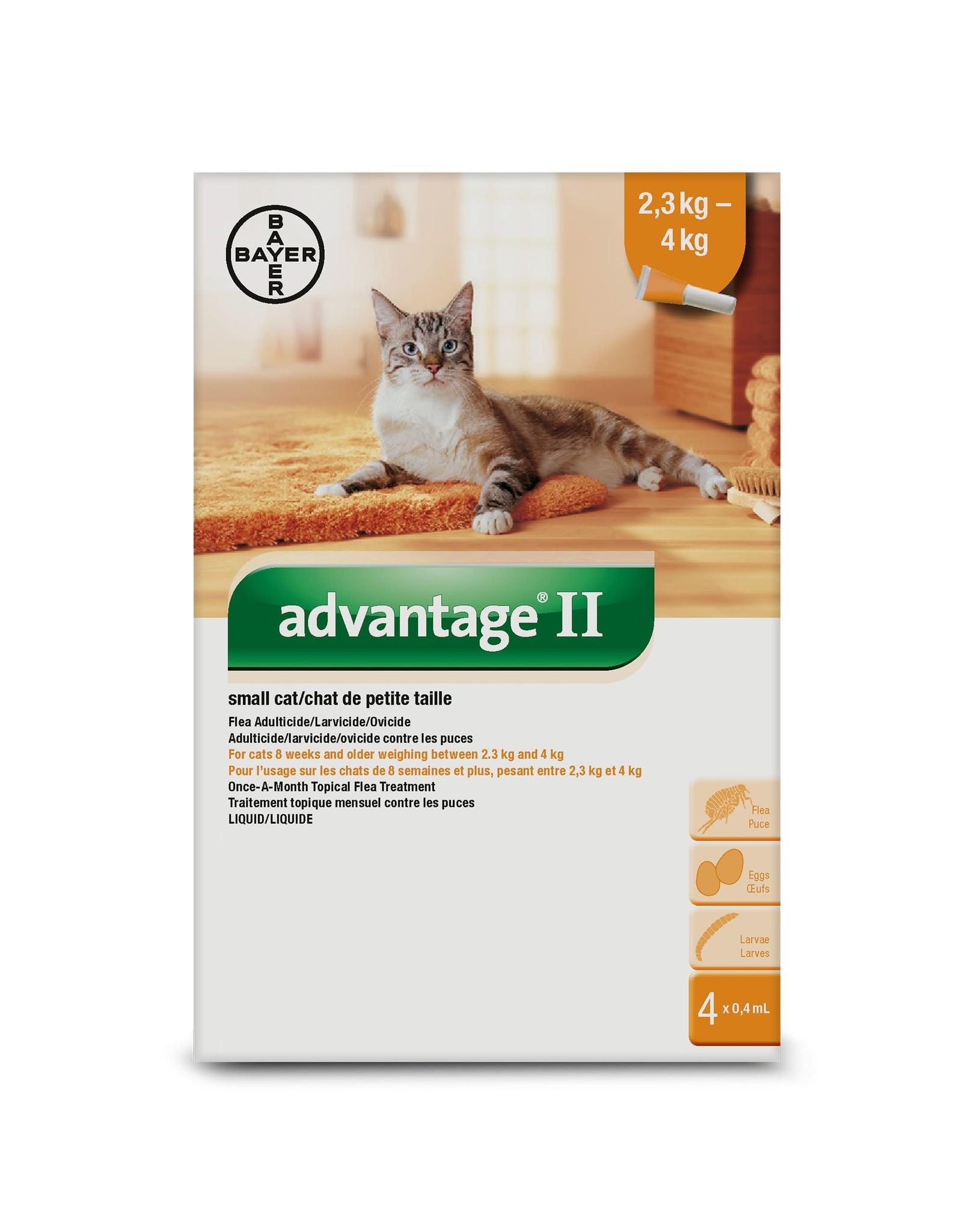 Bayer Advantage II - 2.3kg - 4kg, 4 doses