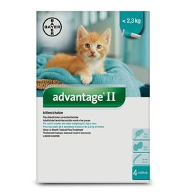 Bayer Advantage II - Kitten under 2.3kg, 4 doses