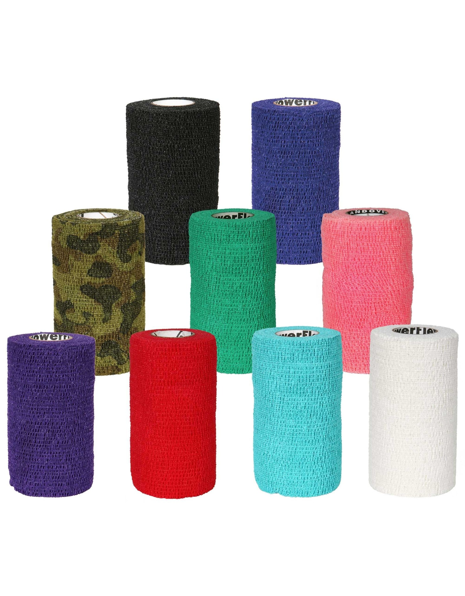 "Andover PowerFlex Flexible Bandage - 4"" (Red)"