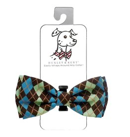 Huxley & Kent Bow Tie - Argyle - Extra Large