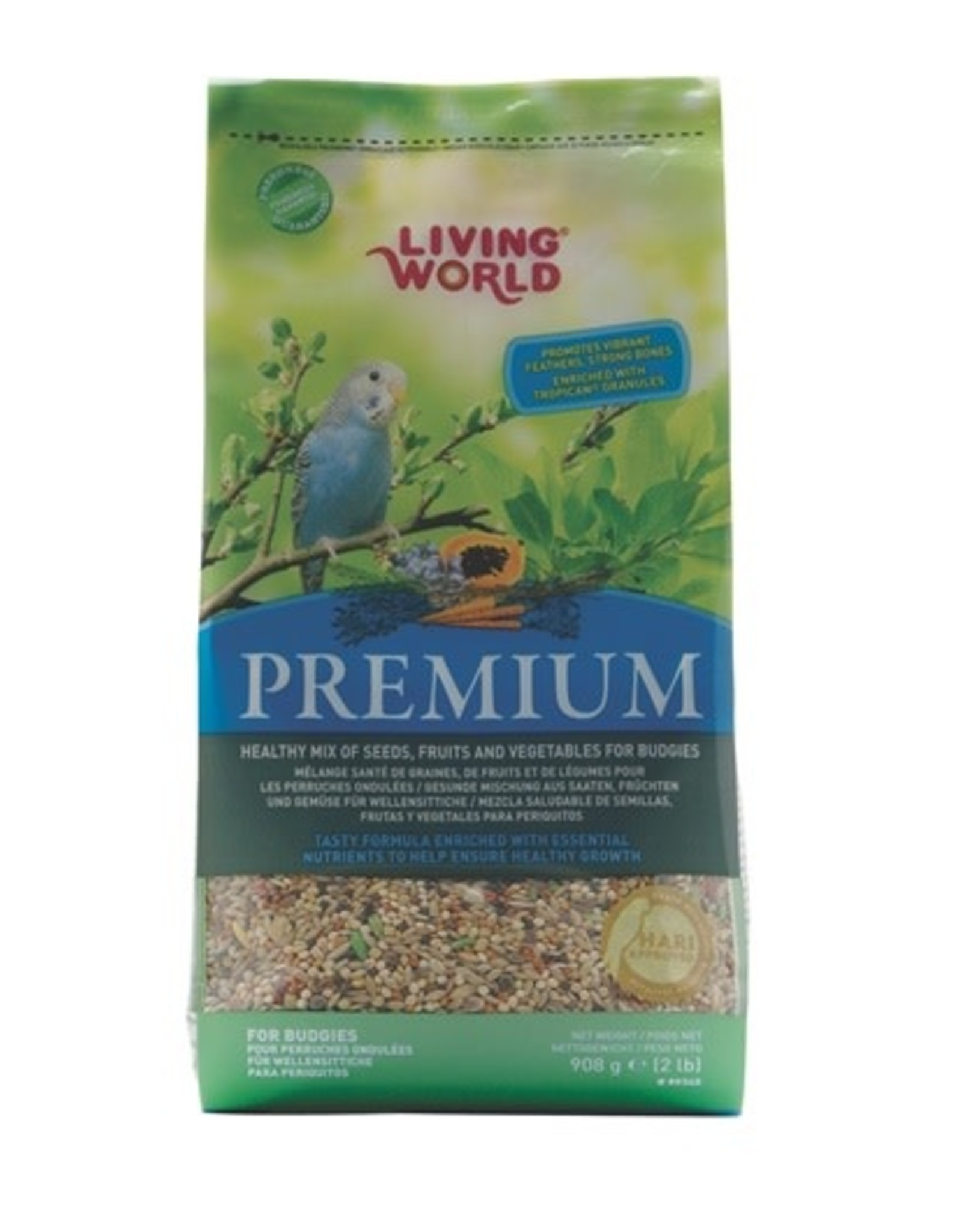 Living World Living World Premium Mix For Budgies - 908 g (2 lb)