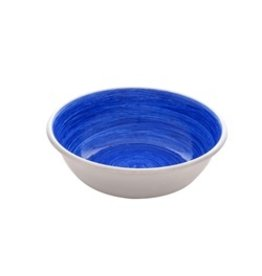 DogIt Stainless Steel Non-Skid Bowl Blue Swirl 350ml