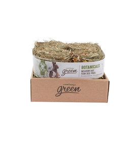 Living World Green Botanicals Meadow Hay Bale - Herb & Flower Mix 4x150g