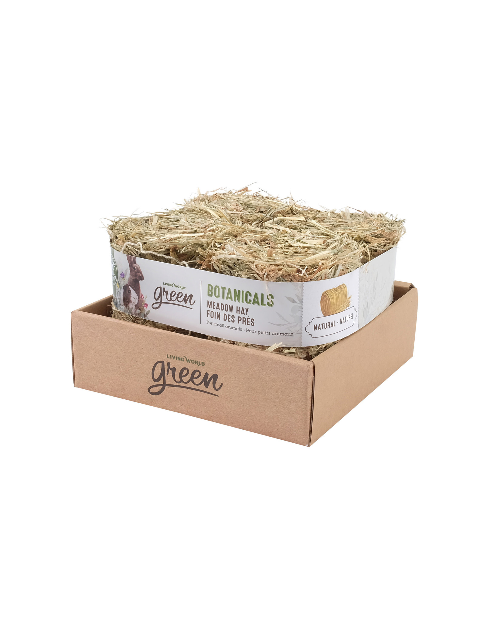 Living World Green Botanicals Meadow Hay Bale - Natural 4x150g