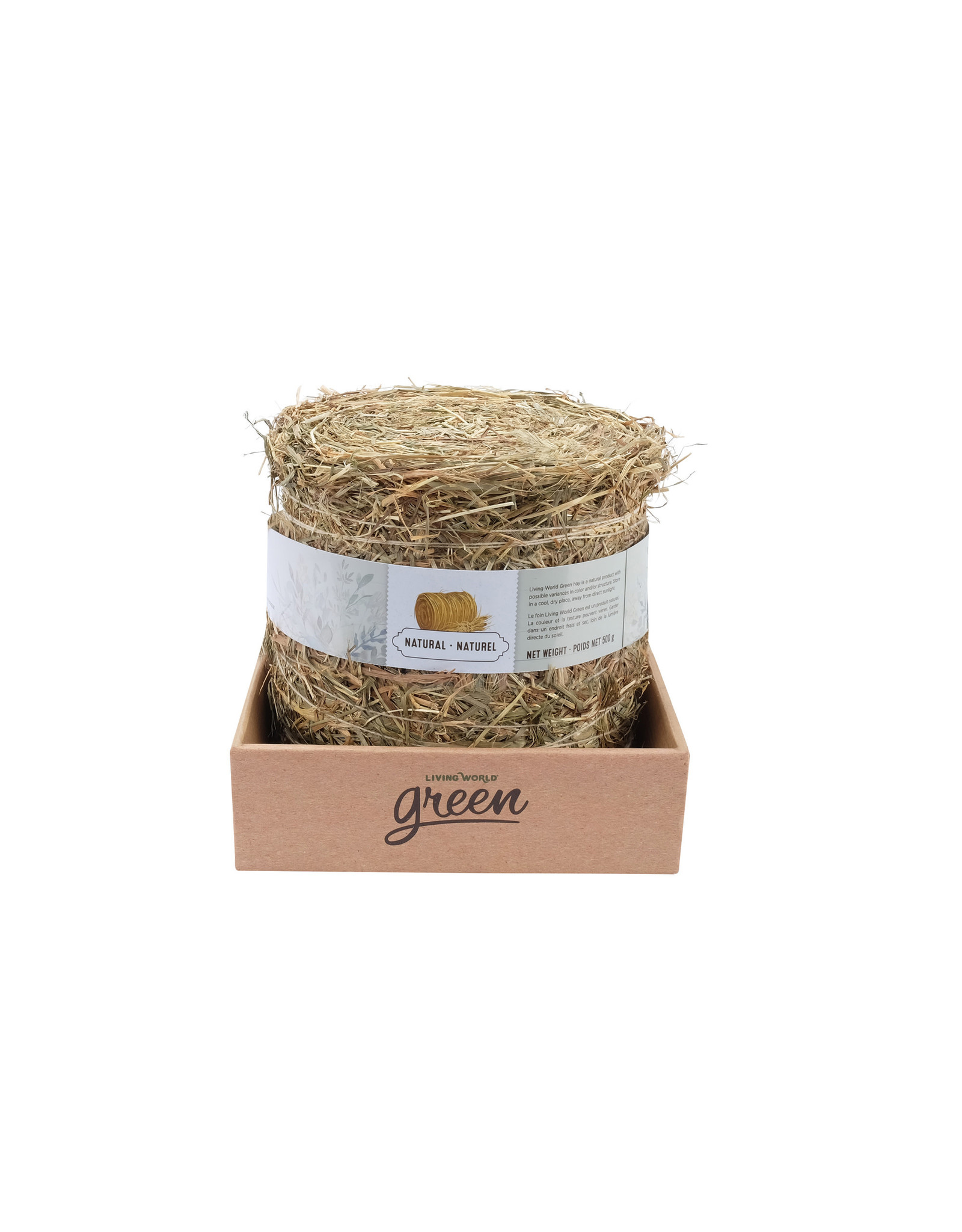Living World Green Botanicals Meadow Hay Bale - Natural 500g
