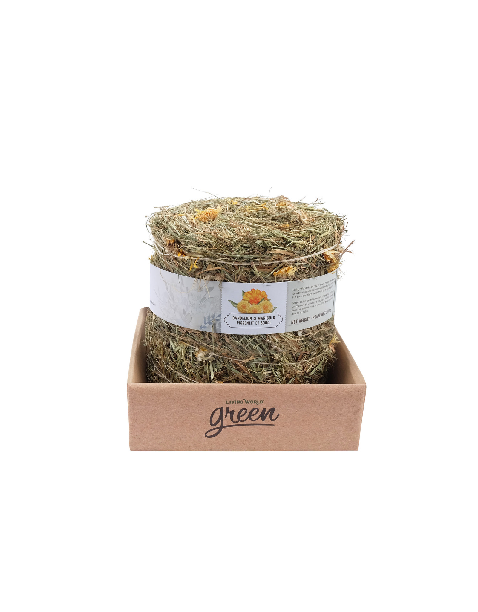 Living World Green Botanicals Meadow Hay Bale - Dandelion & Marigold 500g