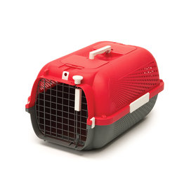CatIt Cat Carrier Cherry Red Medium - 56.5Lx37.6Wx30.8Hcm (22x14.8x12in)