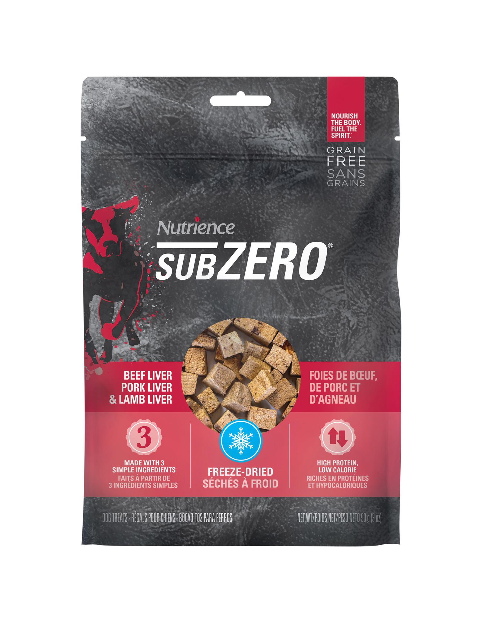 Nutrience Subzero Freeze-Dried Prairie Red Treats - Beef Liver, Pork Liver and Lamb Liver - 90 g (3 oz)