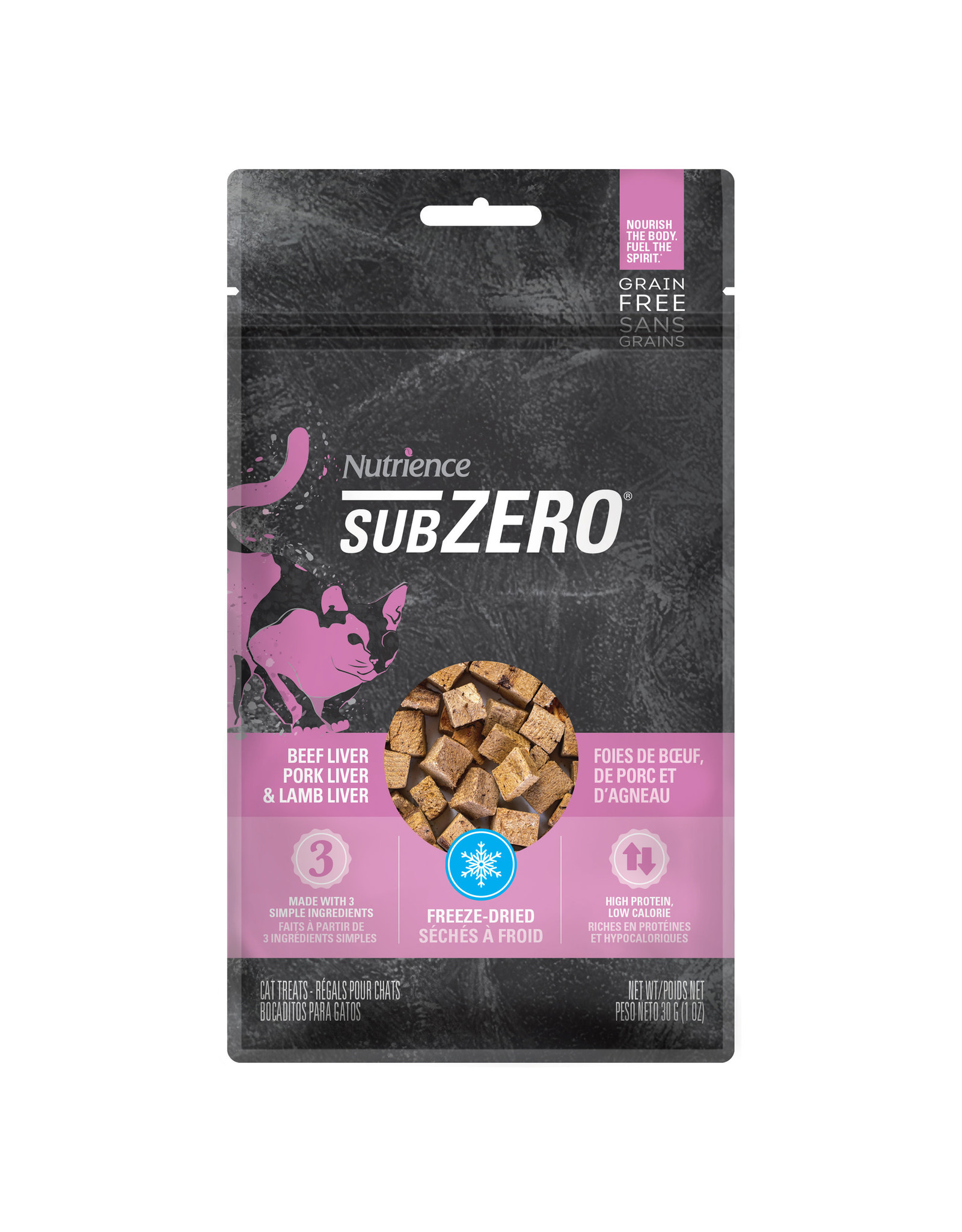 Nutrience Subzero Prairie Red Treats - Beef Liver, Pork Liver & Lamb Liver - 30 g (1 oz)