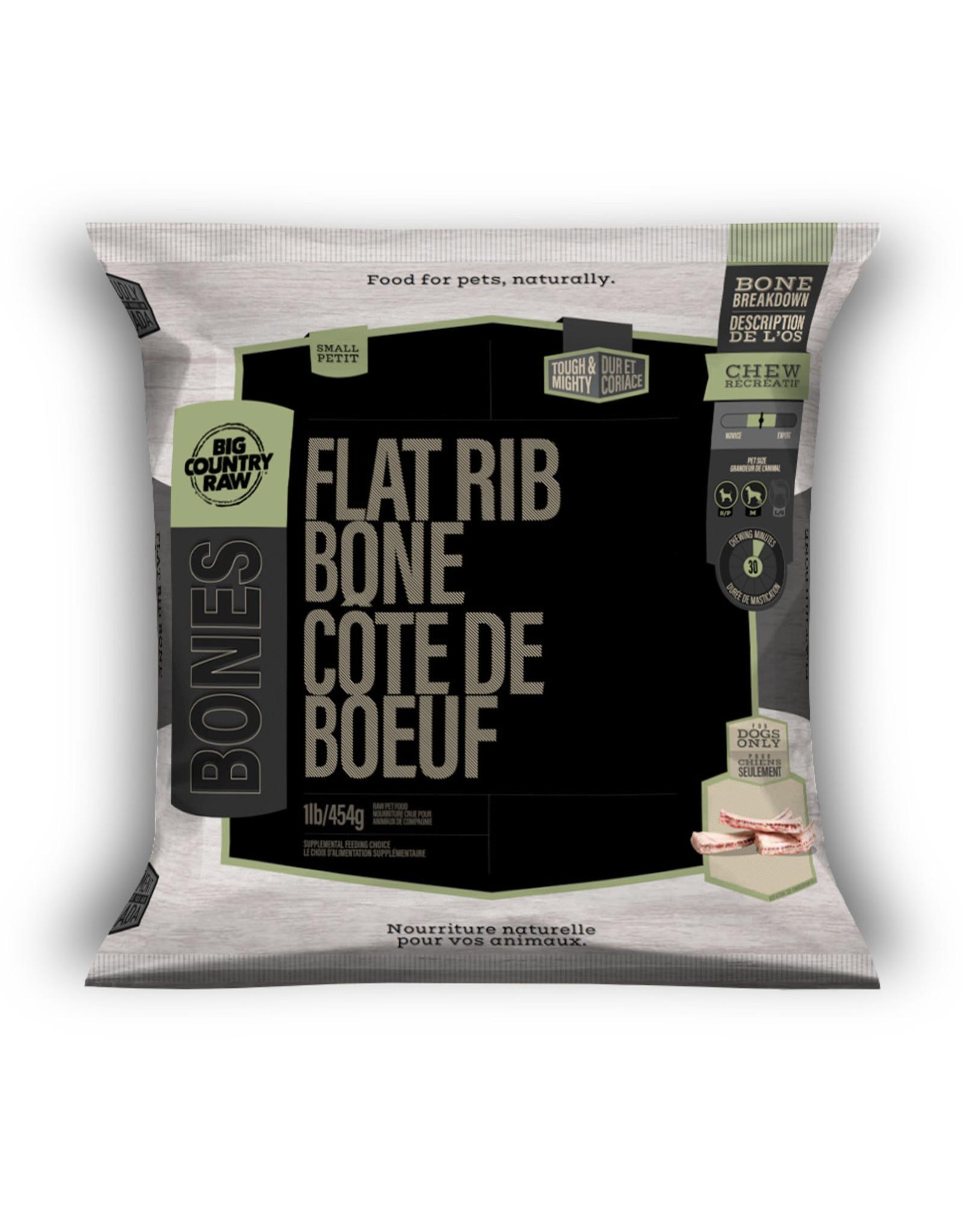 Big Country Raw Flat Rib Bone Small -1lb bag