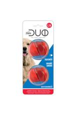 DogIt Duo Ball, 6.3cm w Squeaker, 2pk
