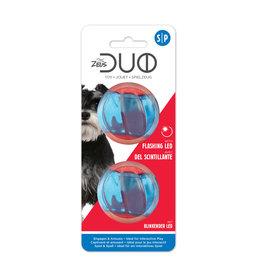 DogIt Duo Ball, 5cm w LED, 2pk
