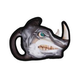 DogIt Growlers Dog Toy - Rhino - 26 cm x 19 cm (10.2 in x 7.4 in)
