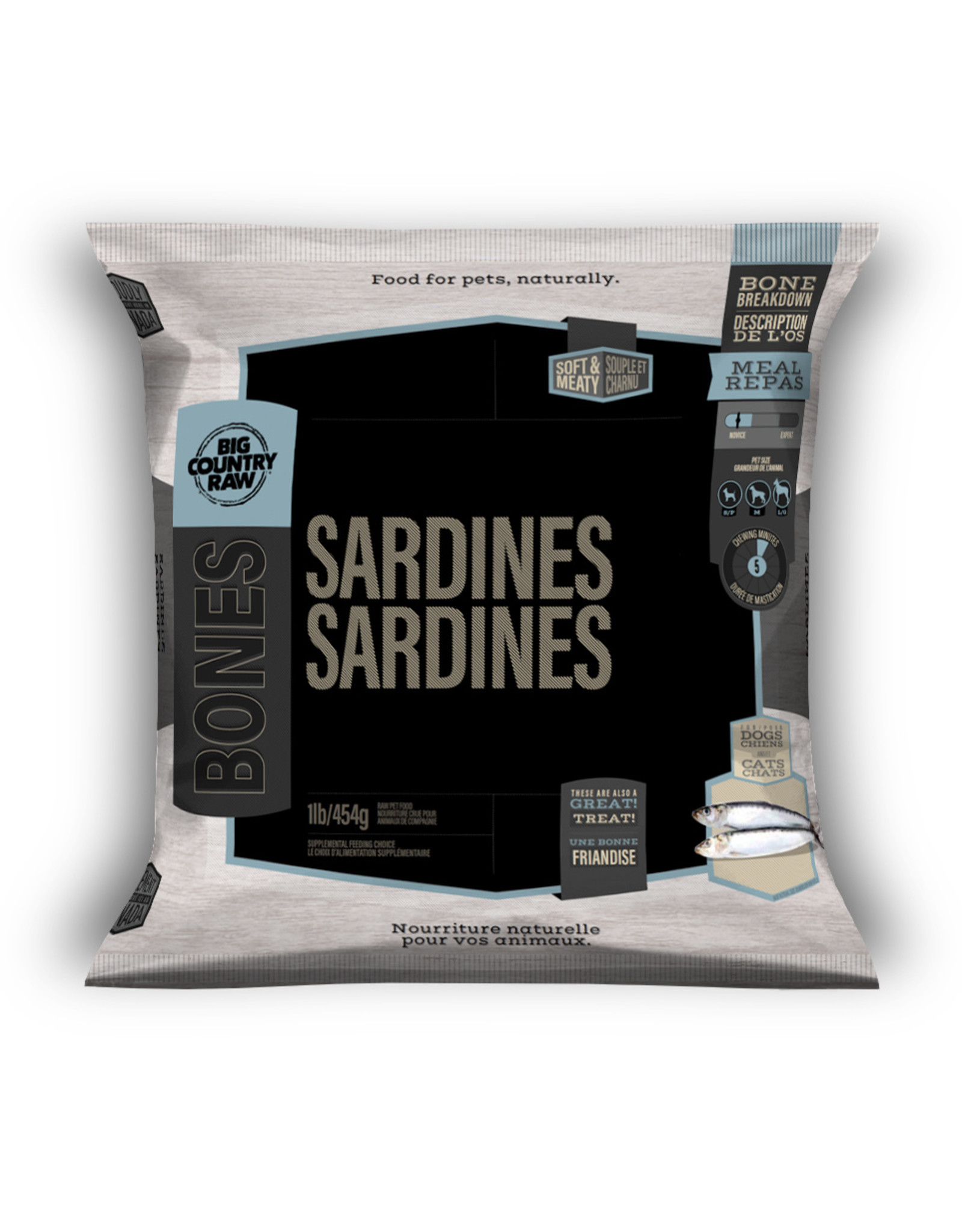 Big Country Raw Sardines 1lb