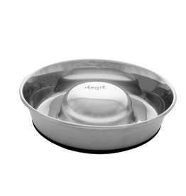 DogIt Dogit Stainless Steel Non-Skid Slow Feed Dog Bowl - 1.7 L (57.5 fl.oz.)