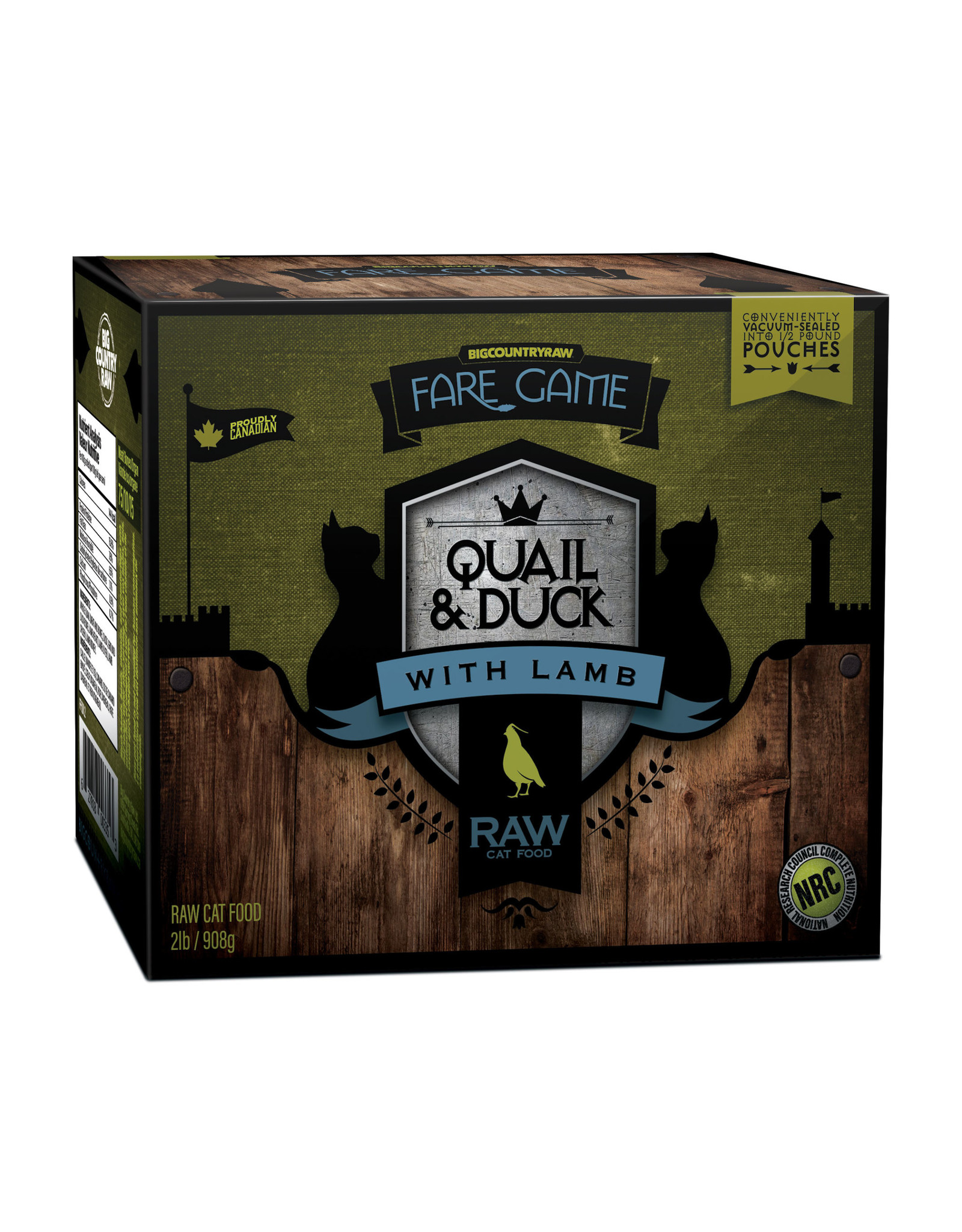 Big Country Raw Fare Game Duck and Quail with Lamb 2lb