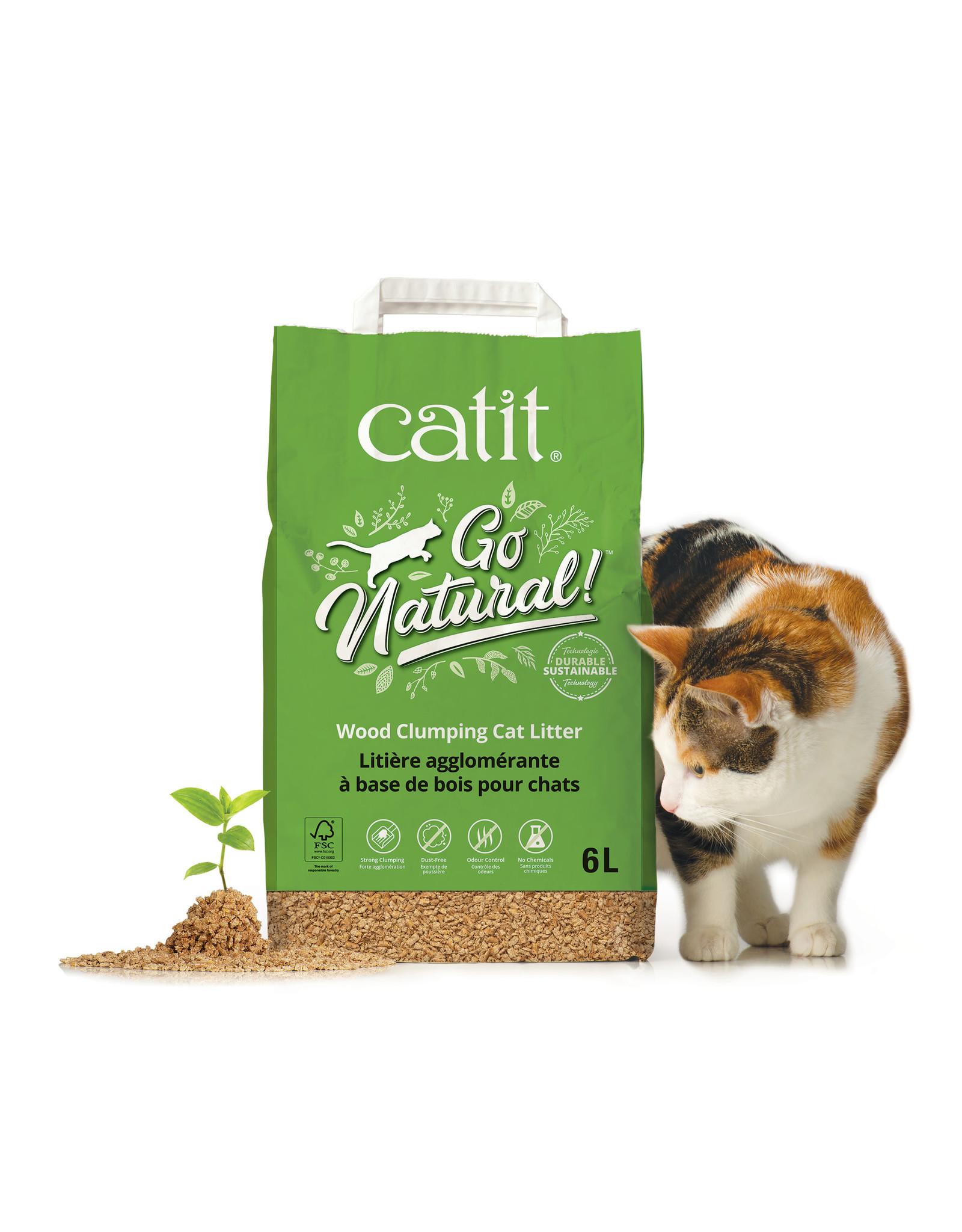 CatIt Go Natural! Wood Clumping Cat Litter 6L