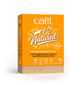CatIt Go Natural! Pea Husk Clumping Cat Litter - Natural 14L