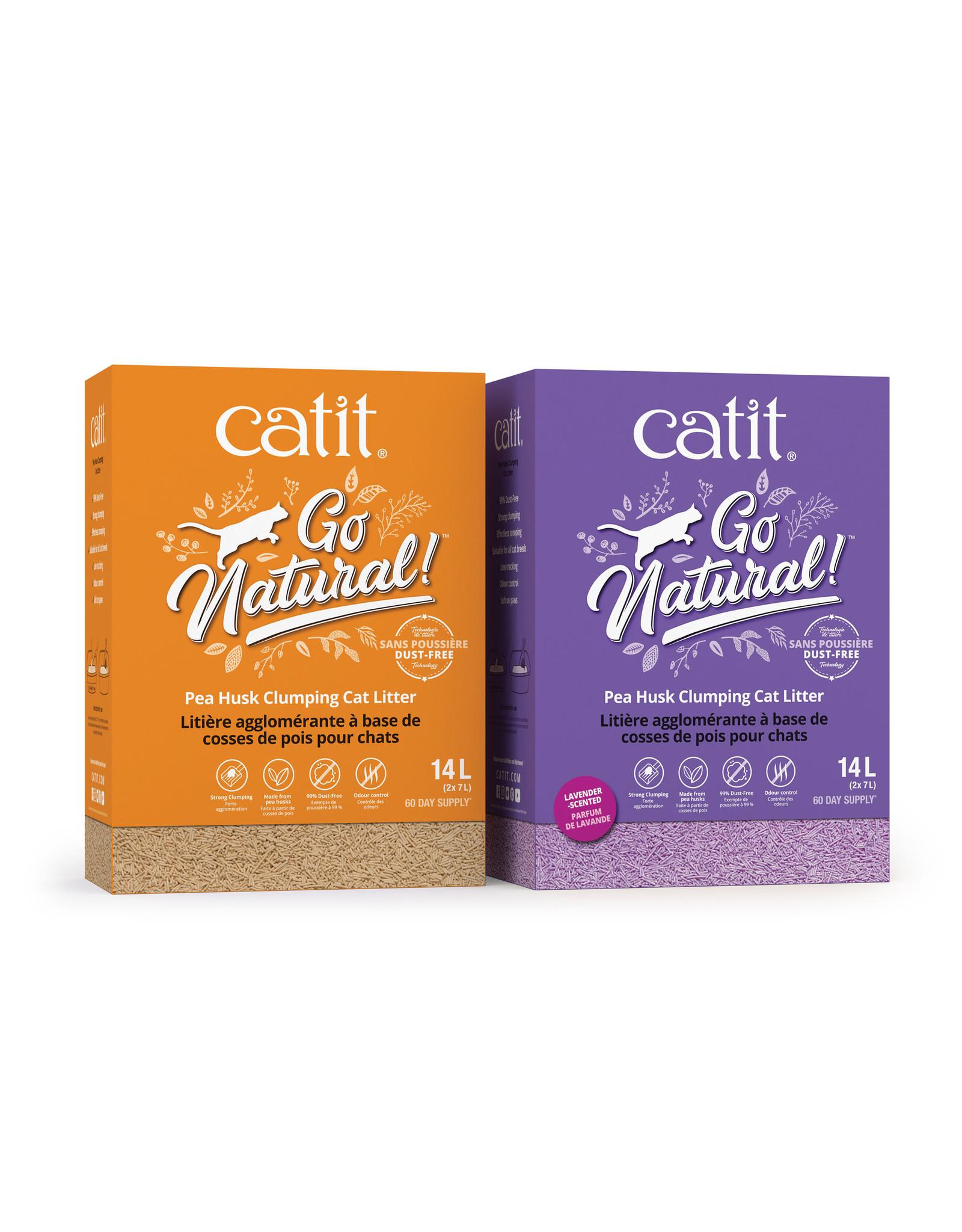 CatIt Go Natural! Pea Husk Clumping Cat Litter - Lavender 14L
