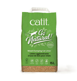 CatIt Go Natural! Wood Clumping Cat Litter 15L