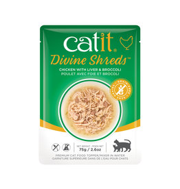 CatIt Divine Shreds - Chicken with Liver & Broccoli - 75g Pouch
