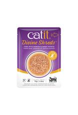 CatIt Divine Shreds - Tuna with Shirasu & Sweet Potato - 75g Pouch