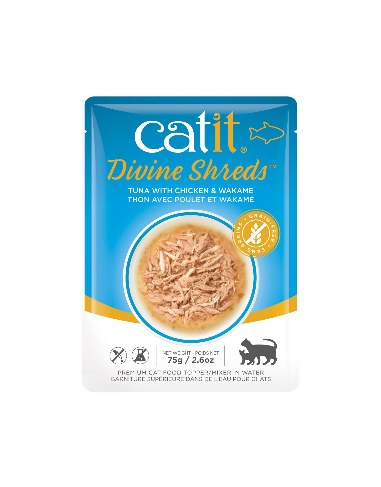 CatIt Divine Shreds - Tuna with Chicken & Wakame - 75g Pouch