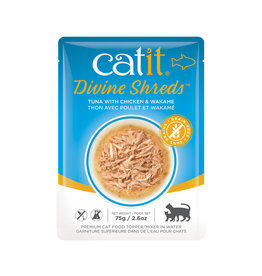CatIt Divine Shreds - Tuna with Chicken & Wakame - 75g Pouch