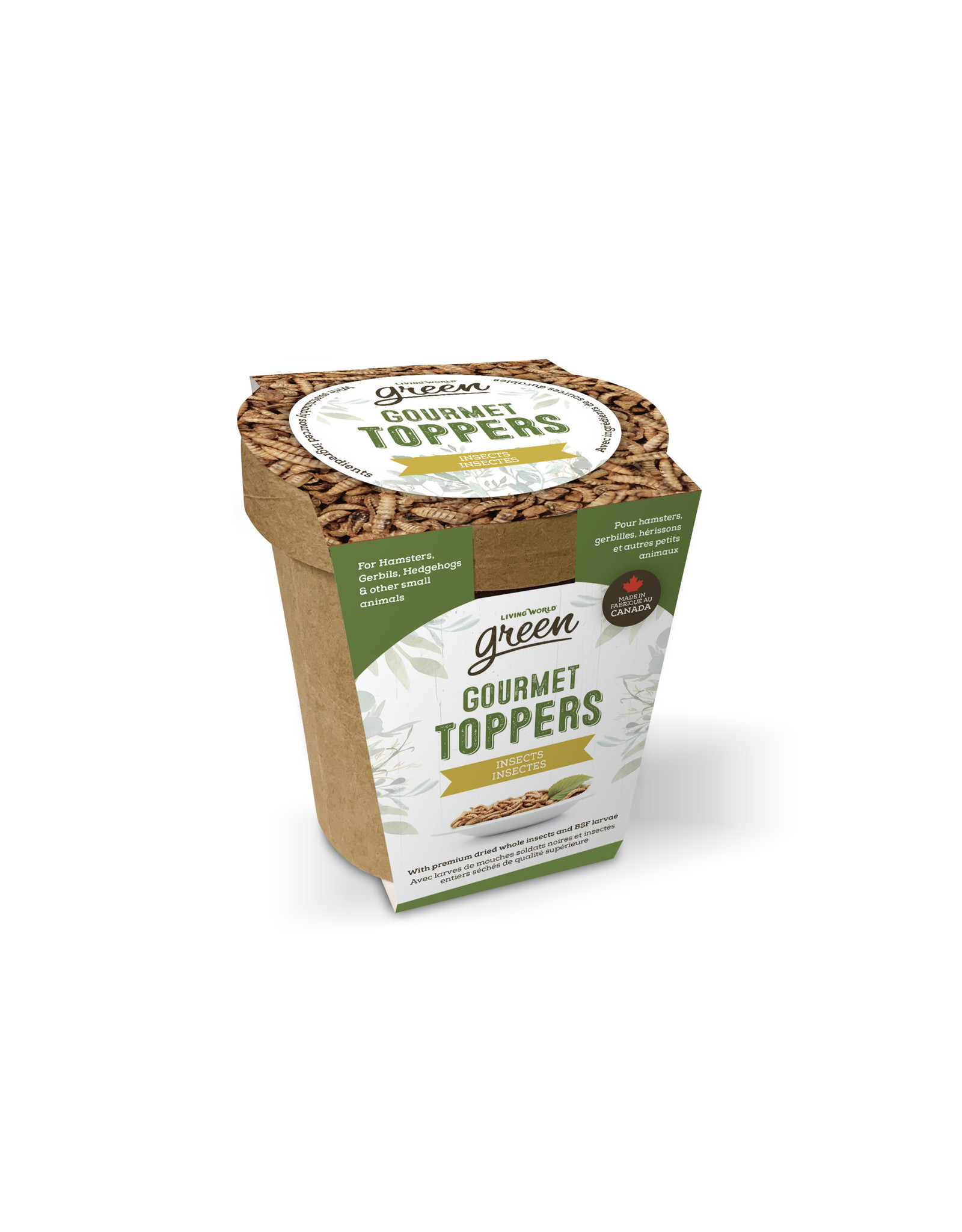 Living World Green Gourmet Toppers - Insects - 125 g (4.4 oz)