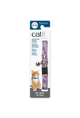 CatIt Catit Adjustable Breakaway Nylon Collar with Rivets - Pink with Purple Hearts - 20-33 cm (8-13 in)