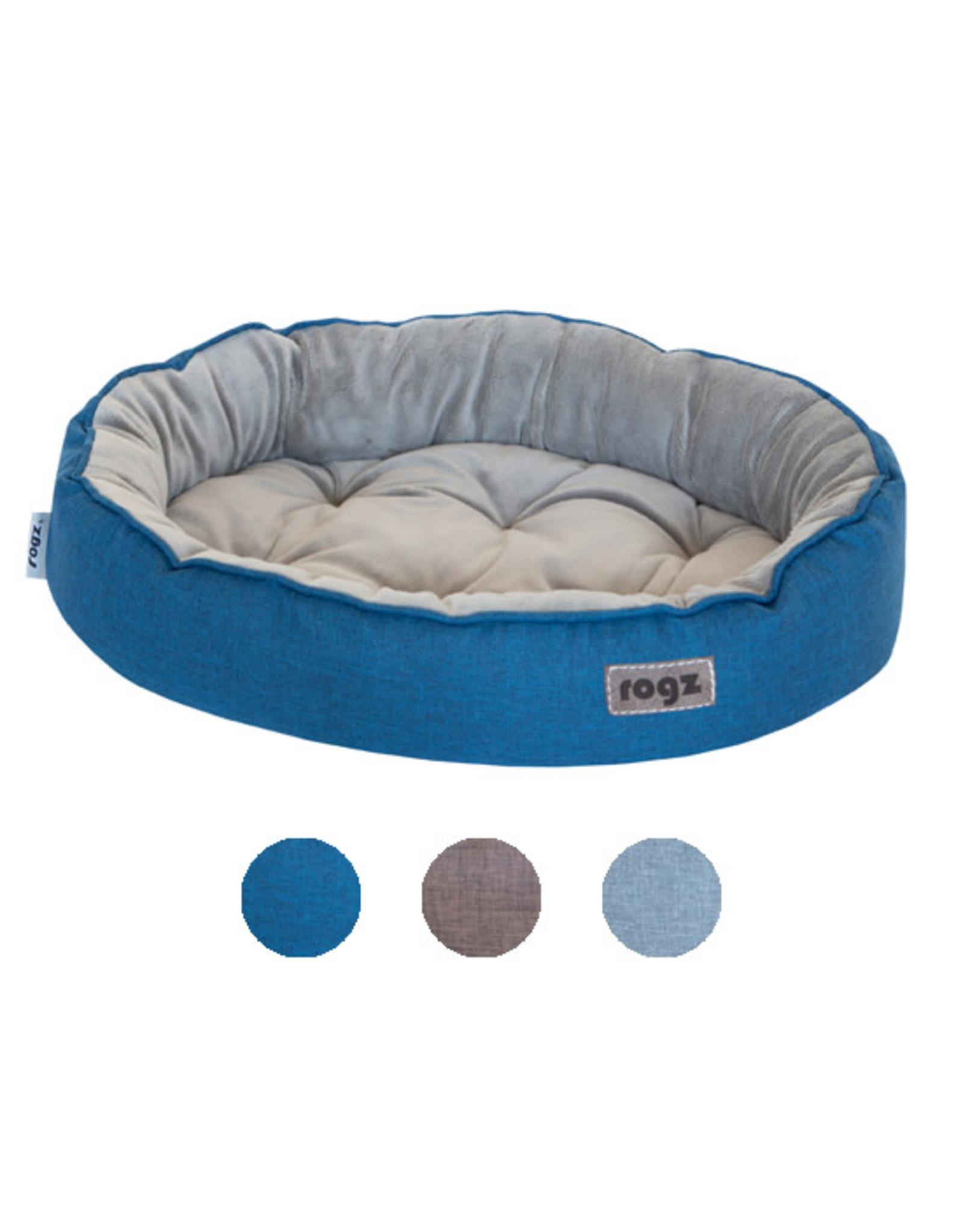 """Rogz Rogz Cuddle Oval Podz Blue Small (18.9x13.7x3"""")"""