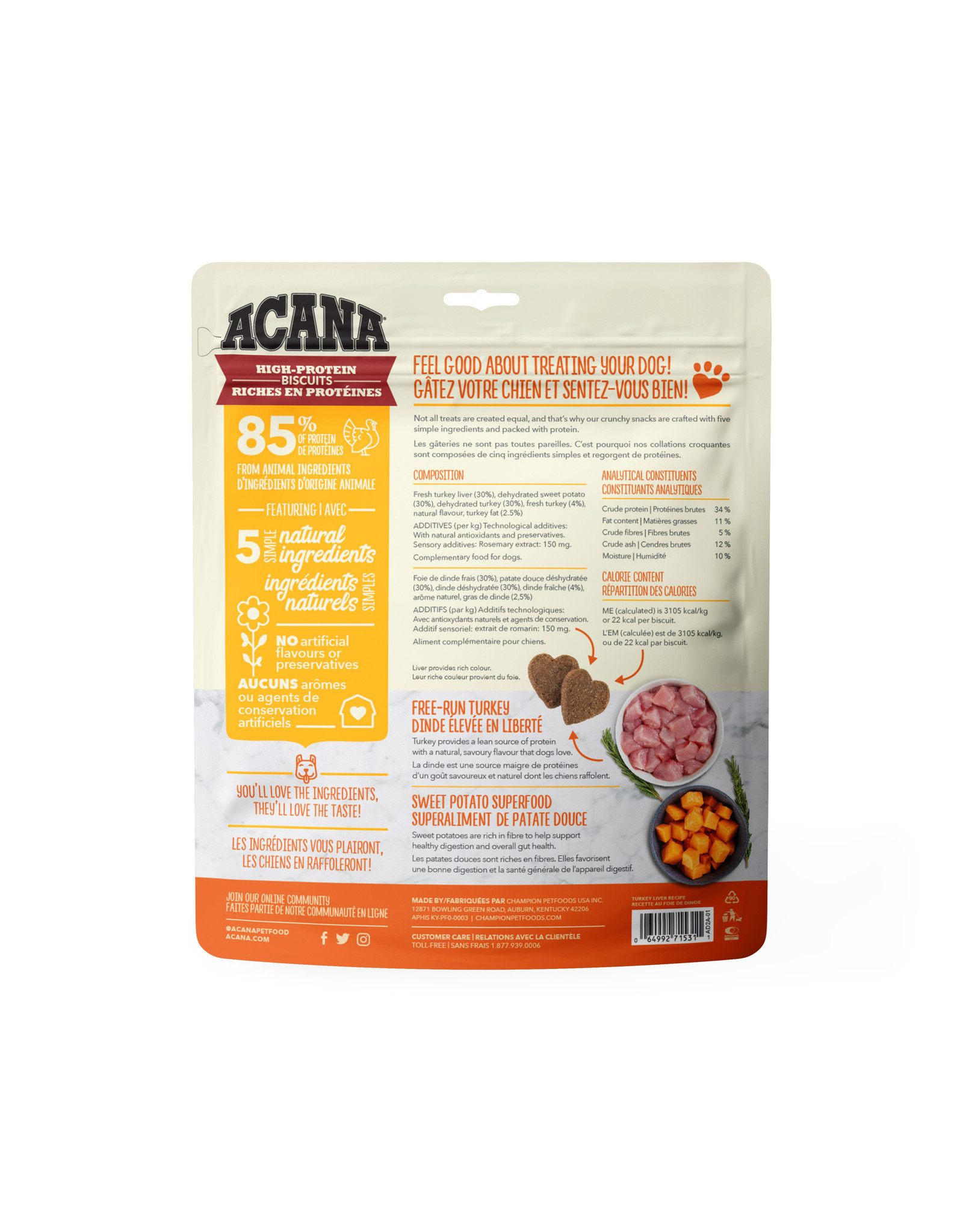 ACANA ACANA High-Protein Biscuits Crunchy Turkey Liver