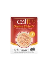 CatIt Divine Shreds - Chicken Multipack - 12 x 75g Pouch
