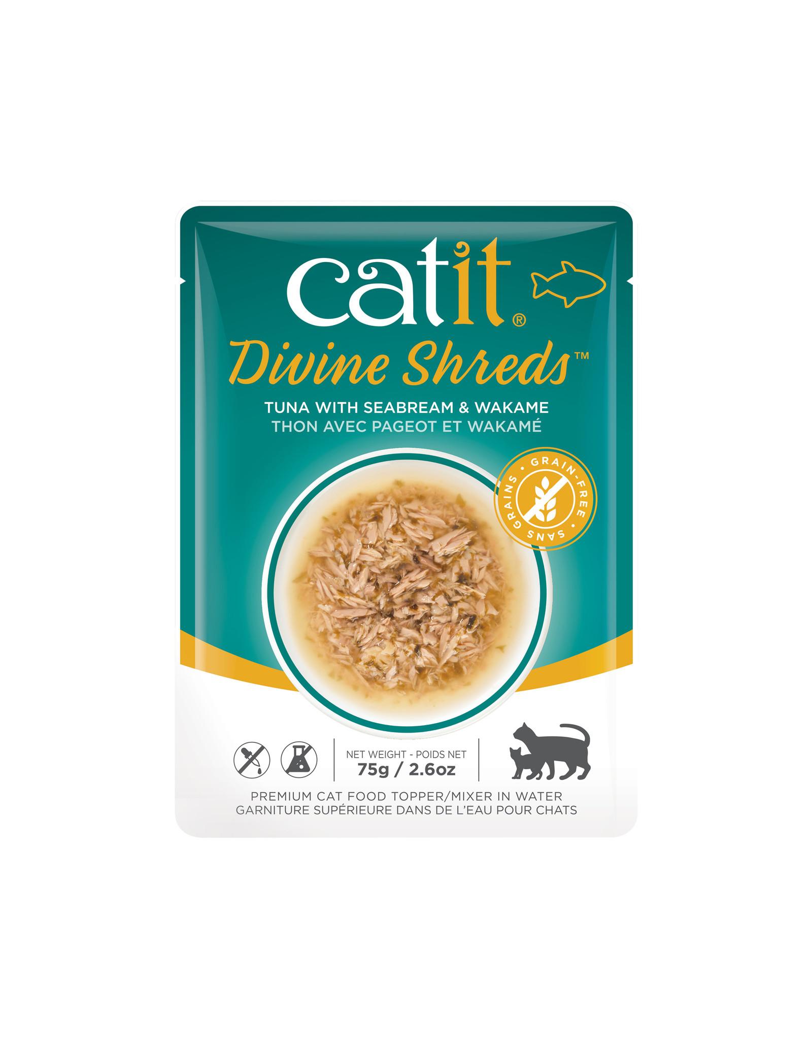 CatIt Divine Shreds - Tuna Multipack - 12 x 75g Pouch
